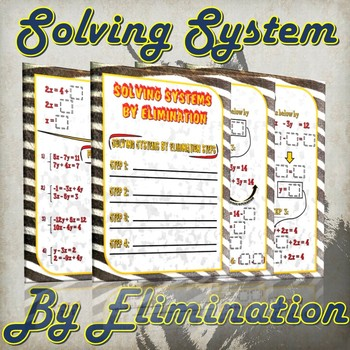 Solving Systems By Elimination - (Guided Notes and Practice)