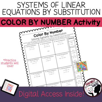 Solving Systems By Substitution | Color By Number