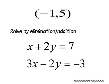 Solving Systems - Ellimination-Addition - PP