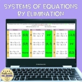 Solving Systems Equations Elimination Digital Activity