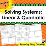 Solving Systems: Linear & Quadratic (2A.3C)