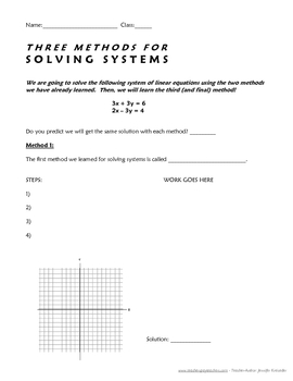 Solving Systems of Equations With Three Different Methods