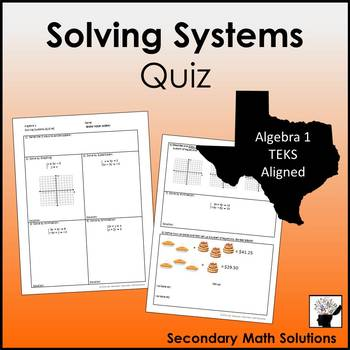 Solving Systems Quiz #2