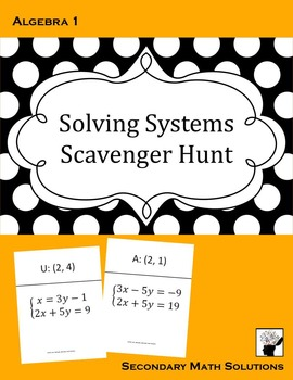 Systems of Equations Activity (Amazing Race)
