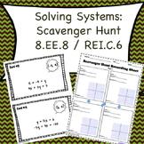 Solving Systems Scavenger Hunt Level 2 (8.EE.8 / REI.C.6)
