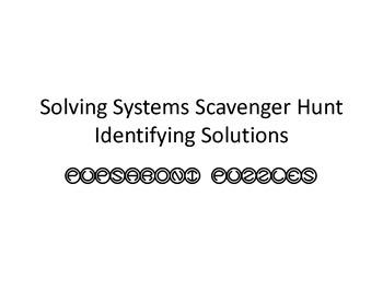 Solving Systems Scavenger Hunt - Identifying Solutions - PP