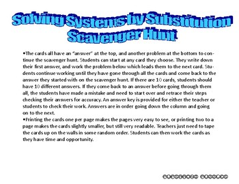 Solving Systems - Substitution - PP