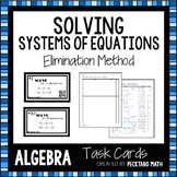 Solving Systems of Equations by Elimination ALGEBRA Task Cards with QR codes