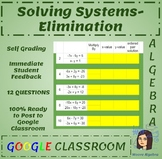 Solving Systems by Elimination - Google Classroom - Conditional Formatting