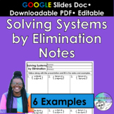 Solving Systems by Elimination Notes
