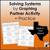Solving Systems by Graphing Partner Activity plus Practice (A3F)