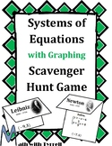 Systems of Equations with Graphing Scavenger Hunt Game