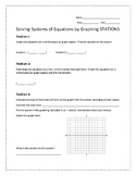 Solving Systems by Graphing Stations