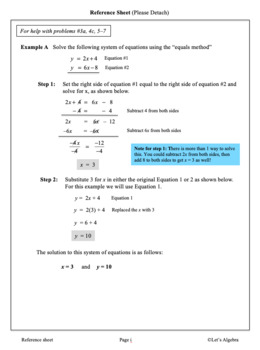 Systems of Equations: (An Introduction) Planting and Growing