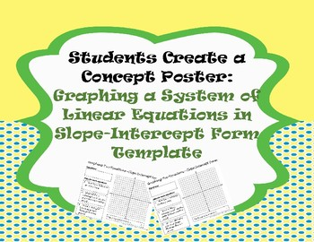 Solving Systems by Graphing: Template for Students to Create Poster