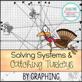 Solving Systems by Graphing - Thanksgiving Activity