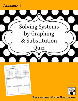 Solving Systems QUIZ