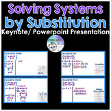 Solving Systems by Substitution Keynote/ Powerpoint