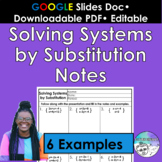 Solving Systems by Substitution Notes