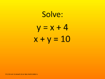 Solving Systems by Substitution PowerPoint