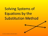 Solving Systems by Substitution PowerPoint (A5C)