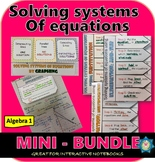 Solving Systems of Equations ALL METHODS BUNDLE + FREE INB