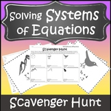 Systems of Equations Review Activity {Solving Systems of Equations Activity}