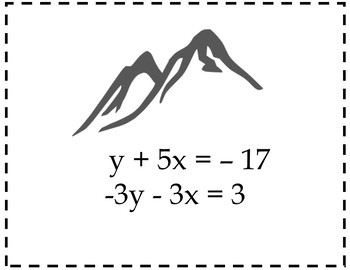 Solving Systems of Equations by Substitution or All Ways {Algebra Scavenger Hunt