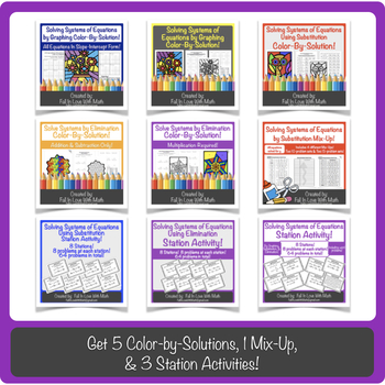 Solving Systems of Equations Activity Bundle!