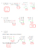 Solving Systems of Equations Algebraically by Elimination/ Addition Worksheet