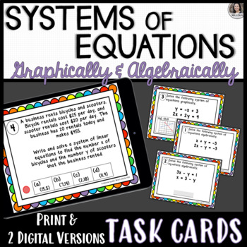 Solving Systems of Equations Algebraically (including Word Problems)