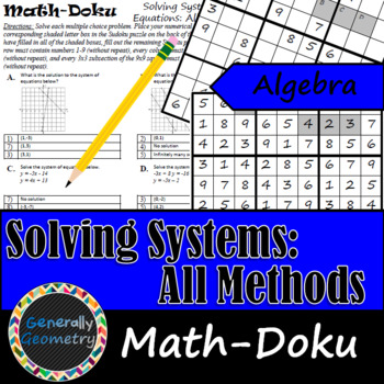 Solving Systems of Equations: All Methods Math-Doku