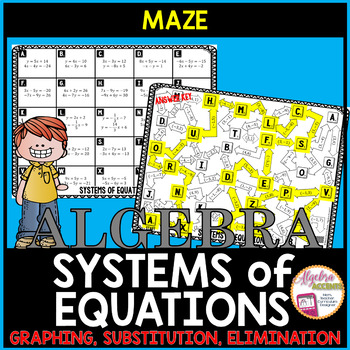Solving Systems of Equations All Methods Maze
