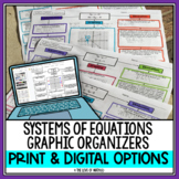 Solving Systems of Equations: Basic Graphic Organizers