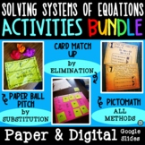 Solving Systems of Equations Activity Bundle | Substitutio