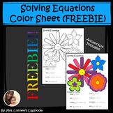 Solving Equations Color Sheet (FREEBIE)