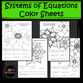 Solving Systems of Equations Color Sheets