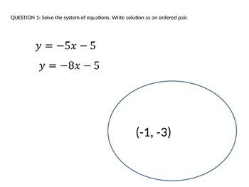 Solving Systems of Equations: Cumulative Review Game
