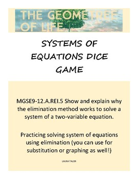 Solving Systems of Equations Dice Game