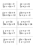 Solving Systems of Equations Flip Chain (Practice Activity)