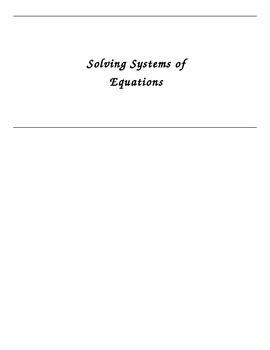 Solving Systems of Equations Foldable