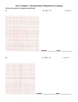 Solving Systems of Equations Graphing Review
