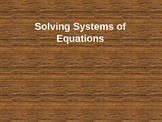 Solving Systems of Equations Lesson