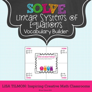Solving Systems of Equations {Linear} Vocabulary Builder