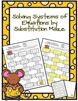 Solving Systems of Equations Maze Bundle
