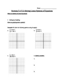 Solving Systems of Equations Note Guide