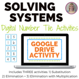 Solving Systems of Equations Number Tile Activities - GOOG
