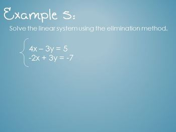 Solving Systems of Equations (Power Point)