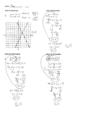 Solving Systems of Equations Practice Key