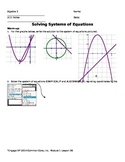 Solving Systems of Equations (Quadratic & Linear)